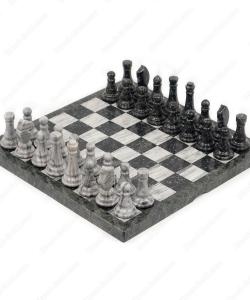 Шахматы из мрамора и змеевика
