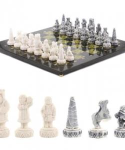 Шахматы  Северные народы  змеевик 400х400 мм