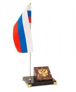 Флагшток с гербом России камень креноид