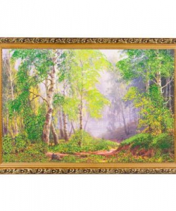 Картина  Утро в березовом лесу  багет №6 (40х60 см) БС21