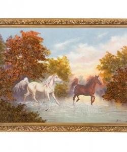 Картина  Свободный бег  багет гипс №4 (30х40 см) Р19
