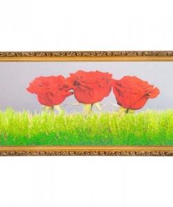 Картина  Три розы  багет №6,5 (33х70 см) ZO04