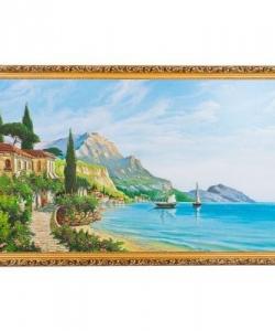 Картина  Лазурный берег  багет №10 (60х100 см) 22И