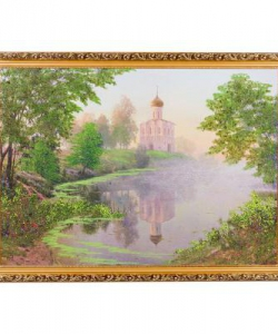 Картина  Утро на Нерли  багет №7 (50х70 см) БС28