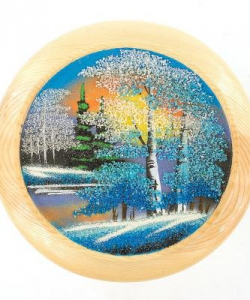 Тарелка декоративная  Зима  Д-20см