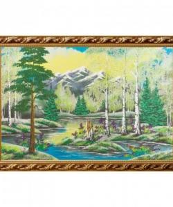 Картина  Весенний пейзаж  багет №9 (60х90 см) гориз. в ассортименте