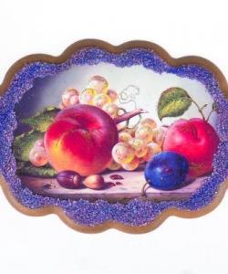 Панно  Натюрморт с персиками  №2 (25х19 см)