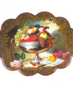 Панно  Ваза с фруктами  №3 (34х26 см)