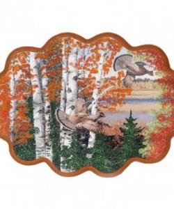 Панно  Рябчики в лесу  №3 (34х26 см)