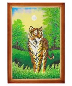 Картина  Тигр  багет дерево №6 (40х60 см)