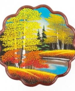 Панно круглое  Осень  №3 (24х24 см) в ассортименте