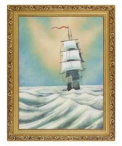 Картина  Парусник  багет №4 (30х40 см)