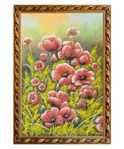 Натюрморт  Маки  багет гипс №6 (40х60 см)