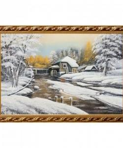 Картина  Водяная мельница  багет гипс №6 (40х60 см)