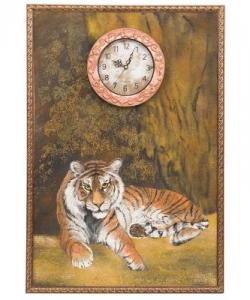 Часы с картиной  Тигр  45х65 см
