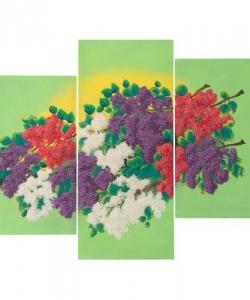 Картина модульная на мдф  Сирень  70х90 см